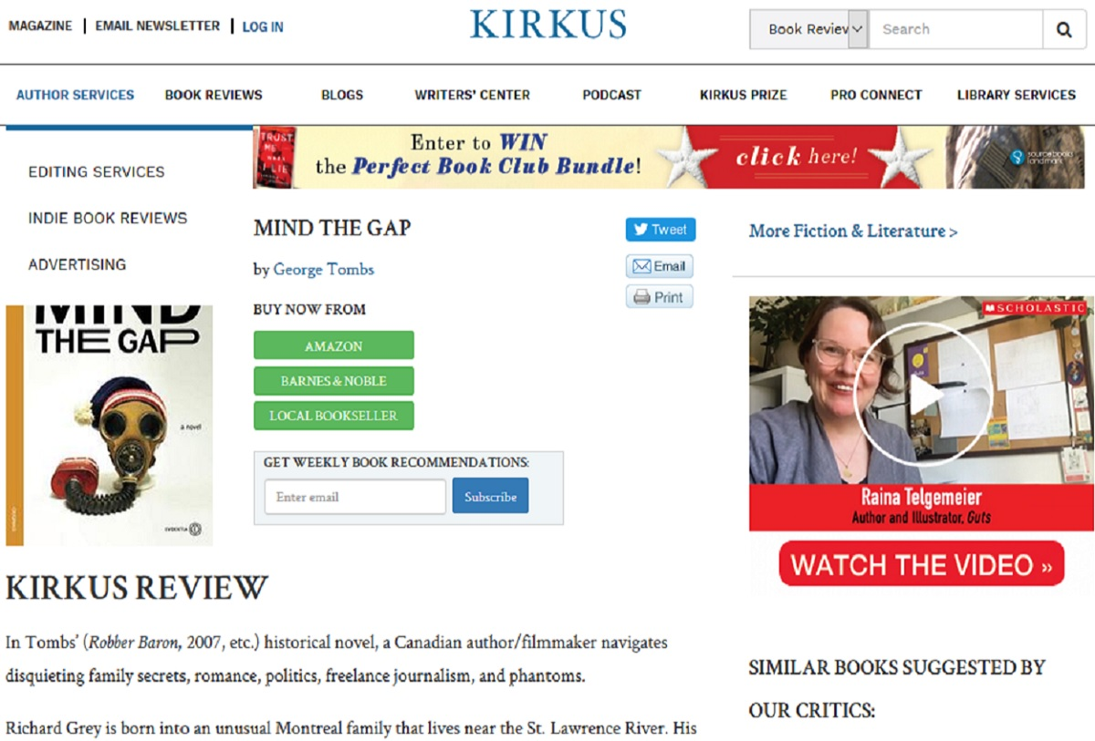 Kirkus Reviews and Mind the Gap
